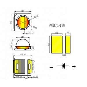*节能SMD 3030帶凸面LED灯珠当选统佳光电_厂家推荐贴片LED灯珠