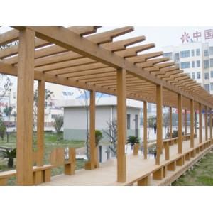 供应合肥优质的仿木长廊,热卖仿木廊架