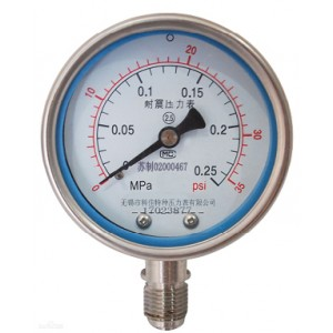 不锈钢耐震压力表型号规格