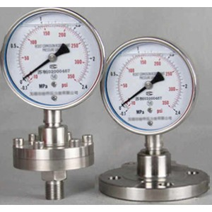 不锈钢隔膜压力表Y-60B/100B/150B-MF(ML)